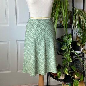 Plaid Mint 90's Skirt